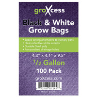 GroXcess GroXcess Black and White Grow Bags, 1/2 gal, 100 Pack