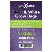 GroXcess GroXcess Black and White Grow Bags, 1/2 gal, 1000 Pack