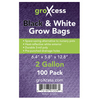GroXcess GroXcess Black and White Grow Bags, 2 gal, 100 Pack