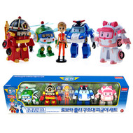 "RoboCar Poli Rescue Team Soft 3"" 5ea Mini Figure Set"