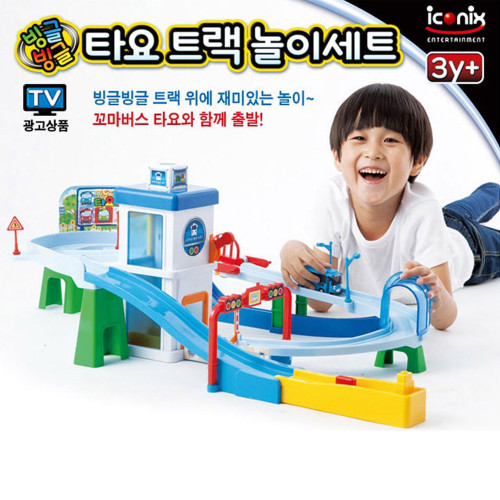 The Little Bus Tayo Track Bus Play Set