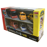 The Little Bus TAYO FRIENDS Special Edition Mini 6 Pcs Toy Set (Citu + Alice + Nuri + Pat + Toto + Frank)