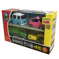 The Little Bus TAYO FRIENDS Special Edition NO.2 Mini 4 Pcs Toy Set (BongBong + Heart + Poco + Max)