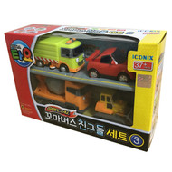 The Little Bus TAYO FRIENDS Special Edition NO.3 Mini 4 Pcs Toy Set (Ruby + Chris + Speed + Billy)