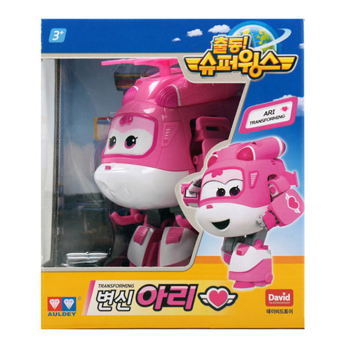 Super Wings - ARI Dizzy Transforming Plane Helicopter Toys Figures