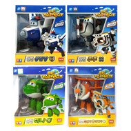 Super Wings 4 Pcs Set (BJ Bong Paul, ZUZU Bello , Mina, Daalji - Grand Albert) Transforming Plane Toys