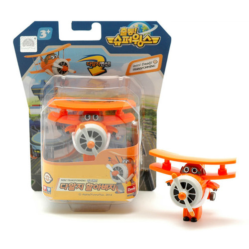 Super Wings Mini - Grand Albert (Daalji) Transforming Air-Plane Toys Figures