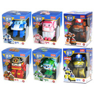 "Robocar Poli 6 Pcs Set - Poli, Roy, Amber, Helly, Mark, Bucky 4.7"" Transformer Robot Toy Figure"