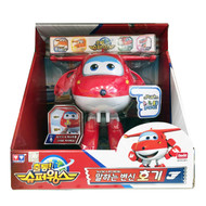 Korean Animation Series [David Toy] Super Wings Season 2 Talking & Recording Transforming Hogi (Jett)