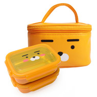 Kakao Friends -Double lock Stainless Steel 2-stage lunch Box Bag Set (Ryan)