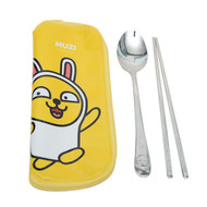 Kakao Friends - Stainless steel Spoon Chopsticks Case Set (MUZI)