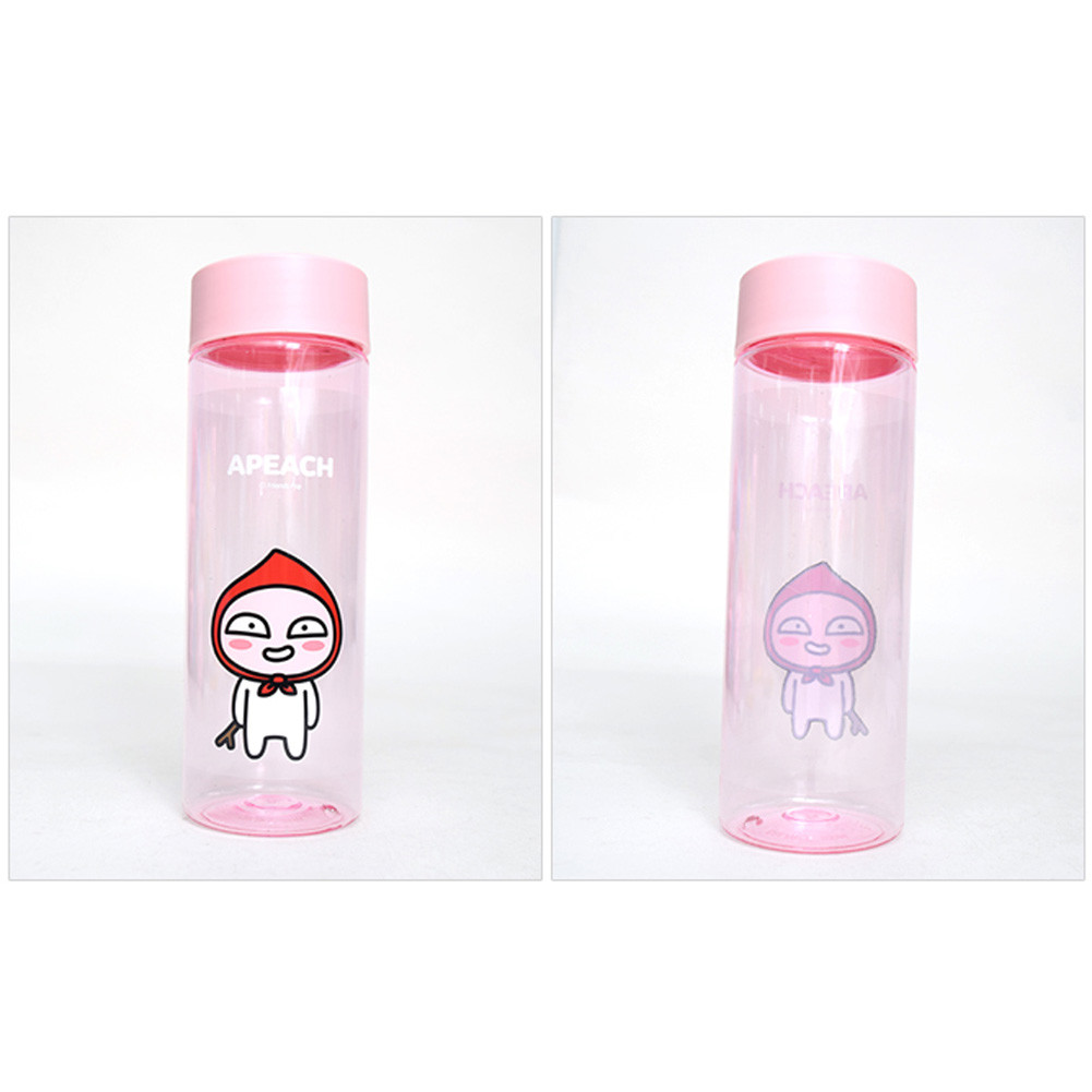 Kakao Friends Face Clear Water Bottle 500ml Apeach Give Kids Fun Thermos Mini Carakter 500 Ml Larger More Photos