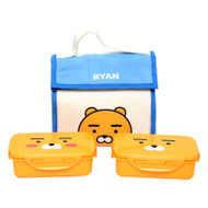 Kakao Friends - Natural lunch Box 2-stage Bag Set (RYAN)