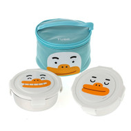 Kakao Friends - Circular Stainless Steel 2-Stage Lunch Box Bag Food Tray Set (TUBE)