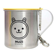 Kakao Friends - Portable Cover Stain Mug Cup (MUZI)