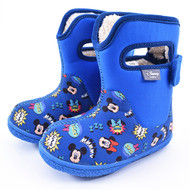 Disney Baby Adorable Lovely Winter Warm Waterproof Snow Boots Shoes (Toddler/Little Kid) - Blue (Mickey Mouse)