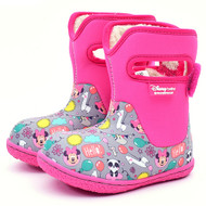 Disney Baby Adorable Lovely Winter Warm Waterproof Snow Boots Shoes (Toddler/Little Kid) - Pink (Minnie Mouse)