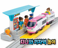 Titipo Genie Motorized Toy Train - Train Station Playset