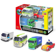 The Little Bus TAYO - FRIENDS Special Edition NO.5 Mini Car 4 Pcs Toy Set (Bubba+Toni+Lucy+Big)