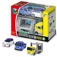 The Little Bus TAYO - FRIENDS Special Edition NO.6 Mini Car 3 Pcs Toy Set (Teach + Iratcha + Carry)