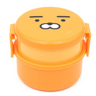 Kakao Friends - Cute Face Circle 2-Step Lunch Box (Ryan)