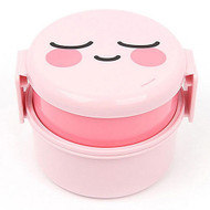 Kakao Friends - Cute Face Circle 2-Step Lunch Box (Apeach)