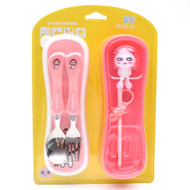 Kakao Friends - Motion Training Chopsticks Spoon Fork Case Set (APEACH)