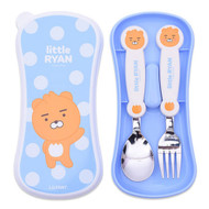 Kakao Friends - Easy Washing Spoon Fork Case Set (Little Ryan)