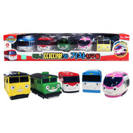 Titipo and Friends Pull-Back Toy Train Friends 5pcs Set