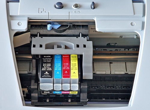 canon ink jet printer with cartridges
