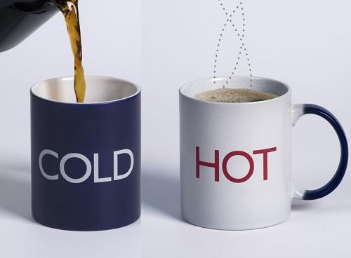 cold and hot mug