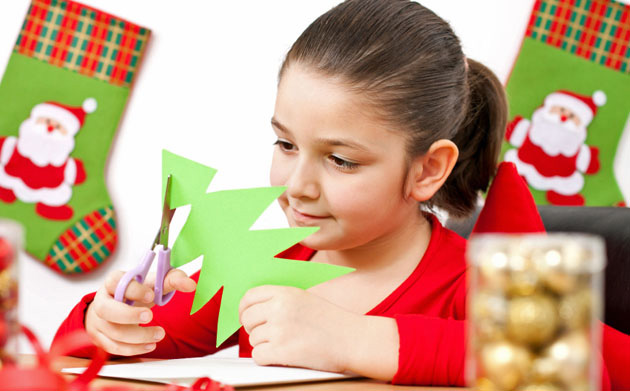 Kid preparing for Christmas day