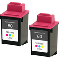Lexmark #80 - 12A1980 Color 2-pack replacement