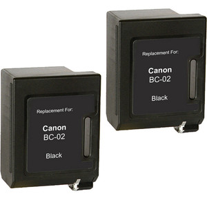 Canon BC-02 Black 2-pack replacement