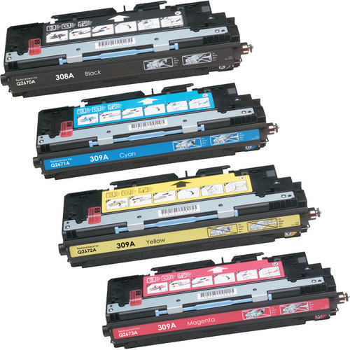 04a318711f 4 Pack - Remanufactured Replacement For HP 308A and 309A Toner Cartridges,  Package Includes 1 Black, 1 Cyan, 1 Magenta and 1 Yellow Toner Cartridge