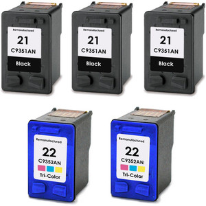 HP 21 - 22 Set 5-Pack replacement