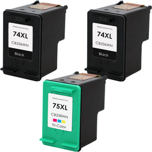 HP 74XL - 75XL Set 3-Pack replacement