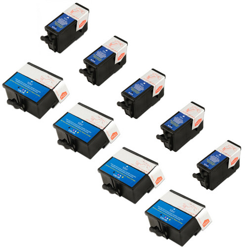 9 Pack - Compatible Kodak 10 Ink Cartridge Set, Package Includes 5 Black  and 4 Color Ink Cartridges