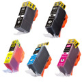 5 Pack - Compatible ink cartridge replacement for Canon PGi-220 and Cli-221 ink cartridges