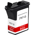 Pitney-Bowes 797-0 fluorescent red ink cartridge