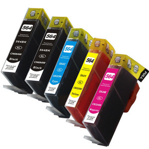 5 Pack Remanufactured Replacement For Hp 564xl Ink Cartridge Set High Yield Package Includes 2 Black 1 Cyan 1 Magenta And 1 Yellow Ink Cartridge