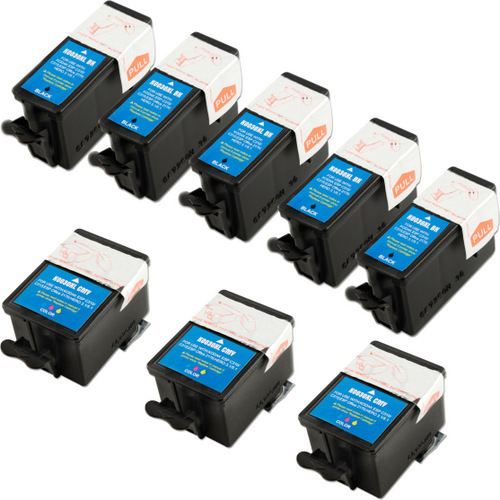 8 Pack - Compatible Kodak 30XL Ink Cartridge Set, Package Includes 5 Black  and 3 Color Ink Cartridges