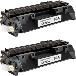 HP 80A - CF280A 2-pack replacement