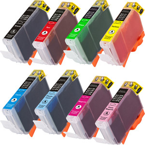 Canon CLi-8 Black and color set 8-pack replacement