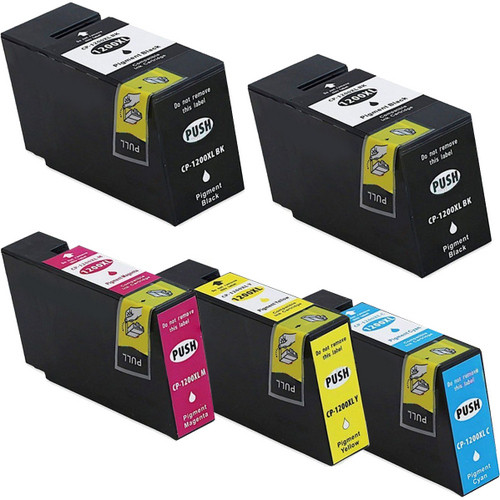 5 Pack - Compatible Canon PGI-1200XL Ink Cartridges Black and Color Set,  High Yield, Package Includes 2 Black, 1 Cyan, 1 Magenta and 1 Yellow Ink