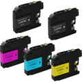 5 Pack - Compatible ink cartridge replacement for Brother LC207 Black and LC205 Color set
