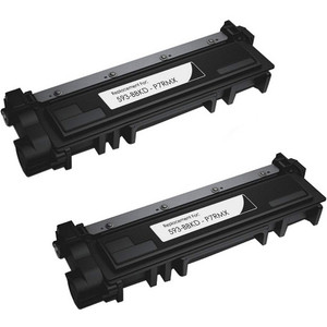 Dell 593-BBKD (P7RMX) black toner cartridge - 2 pack