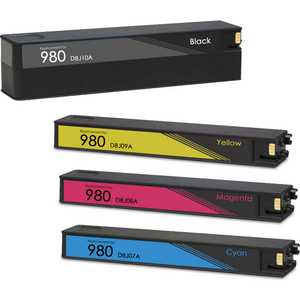 HP 980 ink cartridges remanufactured replacement 4-Pack