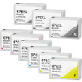 Epson T676XL Ink Cartridge Set, High Yield, 9 pack
