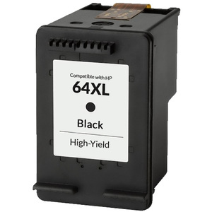 HP 64XL Ink Cartridge, Black, High Yield (N9J92AN)